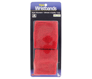 Unique Superthick Wristbands(2X) (Red)